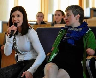 Karolina Hamer (po lewej) i Katarzyna Rogowiec Fot. Andrzej Wiśniewski