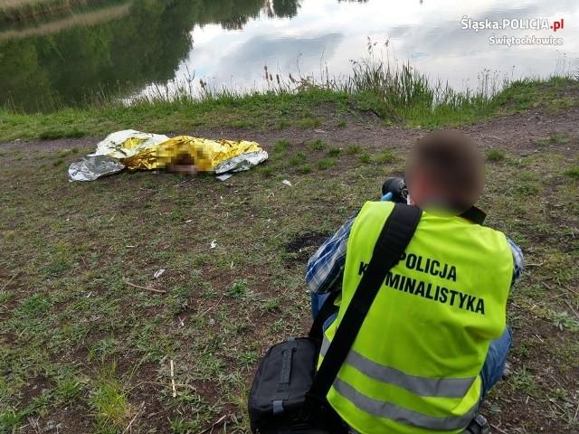 Tragedia w Świętochłowicach: w niestrzeżonym stawie Magiera utonął 36-letni mężczyzna.Zobacz kolejne zdjęcia. Przesuwaj zdjęcia w prawo - naciśnij strzałkę lub przycisk NASTĘPNE