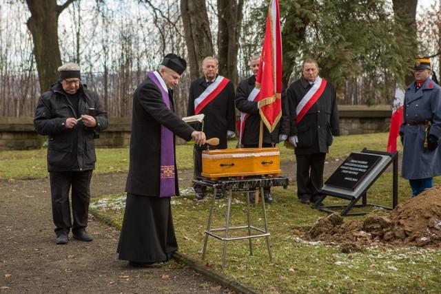 Uroczystości pogrzebowe na cmentarzu wojennym nr 91 w Gorlicach