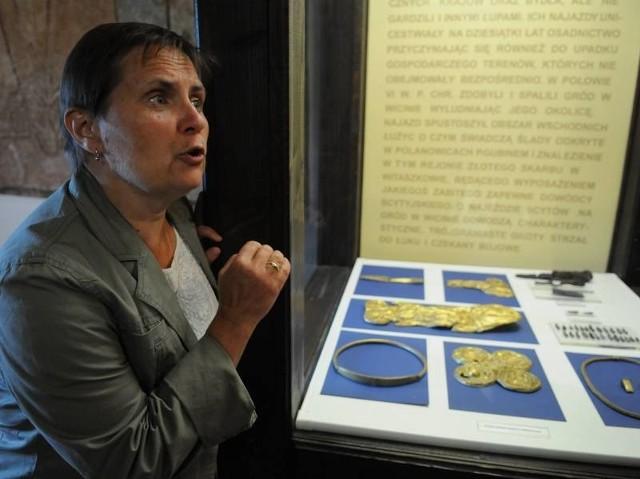 - Niestety mamy tylko kopię naszego najsłynniejszego skarbu, tego znalezionego pod Witaszkowem - mówi archeolog Julia Orlicka - Jasnoch.