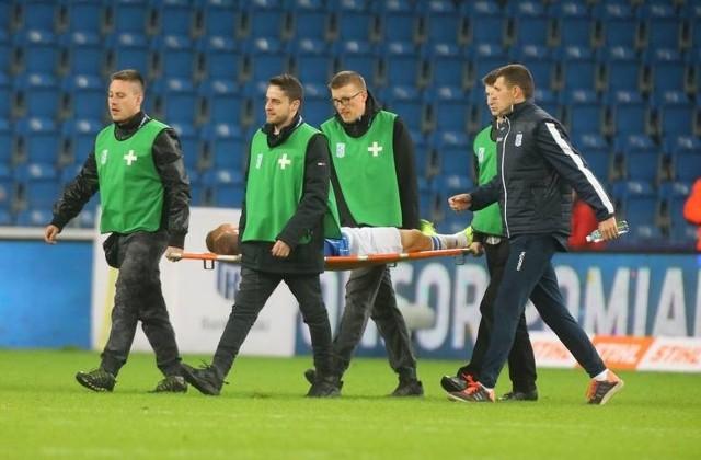 Paweł Tomczyk po meczu Lech - Jagiellonia trafił do szpitala