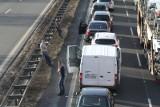 Autostrada A4 blokuje się na wysokości Krapkowic. Uwaga na 10-kilometrowy korek przed węzłem Krapkowice