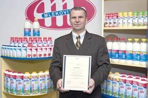 Mlekovita - to najsilniejsza marka naszego regionu. Na zdjęciu prezes Dariusz Sapiński