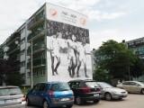 Widzewski mural na jubileusz 40-lecie wywalczenia pierwszego mistrzostwa Polski