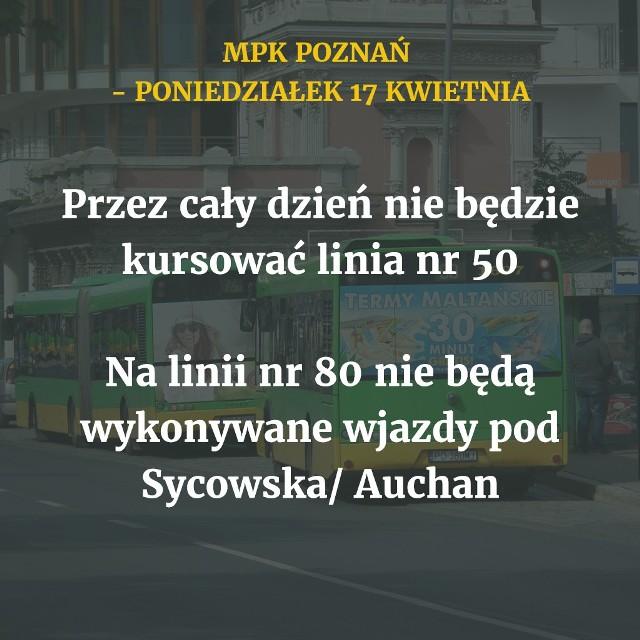 W poniedziałek, 17 kwietnia, autobusy i tramwaje MPK Poznań będą kursować według świątecznego rozkładu jazdy. Wprowadzonych zostanie jednak kilka ograniczeń. Sprawdź, jakie zmiany czekają na poznańskich pasażerów w wielkanocny poniedziałek.Przejdź do kolejnego slajdu --->