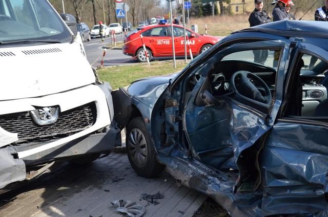 Wypadek na ul. Żernickiej