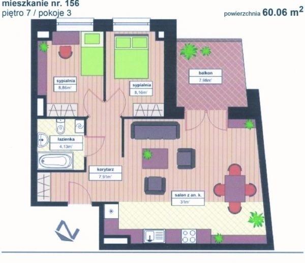 Plan mieszkania do wygrania
