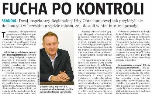 O sprawie konkursu na stanowisko skarbnika Brzegu pisaliśmy w papierowym wydaniu nto 28 listopada.