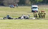 W Przylepie samolot rozbił się w czasie lądowania. Zginął pilot
