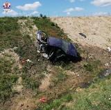Groźny wypadek w Rykach. Dwie osoby trafiły do szpitala. Zobacz