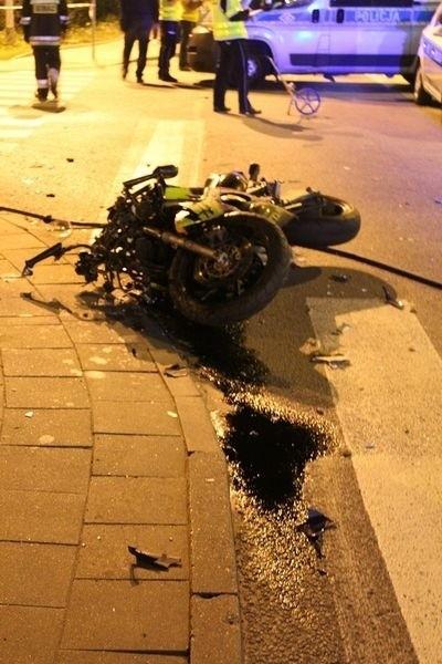 Śmiertelny wypadek na Świętokrzyskiej w Gdańsku. Nie żyje motocyklista