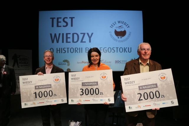 II Testu Wiedzy o Historii Białegostoku. Oni wykazali się największą wiedzą o historii Białegostoku.
