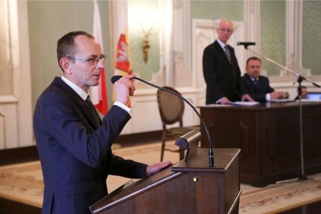 Zbigniew Nikitorowicz podczas pierwszej sesji nowej rady miejskiej Białegostoku