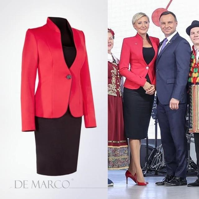 Agata Duda w kostiumie Venus budziła zachwyt fotoreporterów i uczestników targów Expo