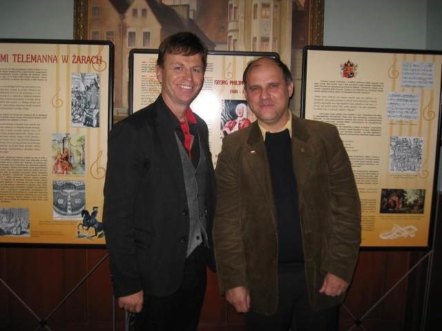 ( od lewej) Richard i Diether Promnitzowie są zachwyceni organizacją sesji naukowej.