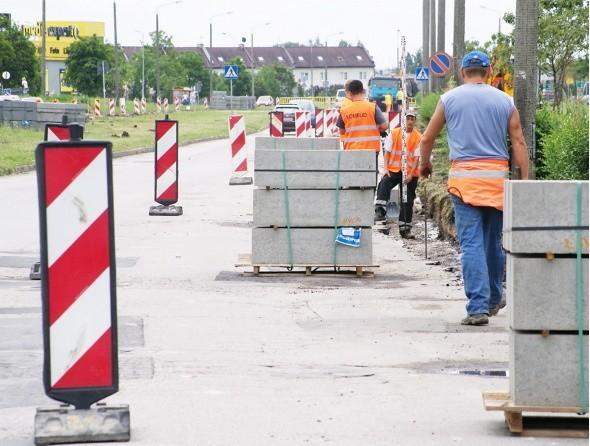 Migawka z alei Niepodległości w Inowrocławiu