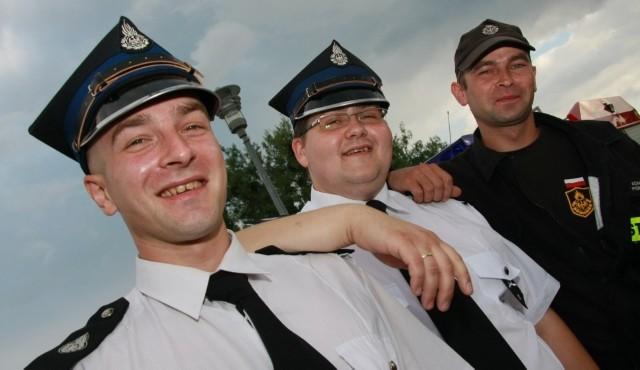 W dzisiejszym spotkaniu wzięli udział m.in. od lewej Piotr Szmyt z OSP w Trzcielu, Wojciech Kowalewski z OSP w Skwierzynie i Adam Piórko z OSP w Przytocznej.