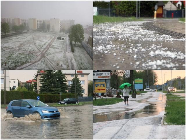 Skutki ulewy i gradobicia w Świdniku
