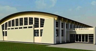 Tak ma wyglądać hala sportowa KS Orzeł Piaski Wielkie. Nowy obiekt ma służyć zawodnikom klubu i okolicznej młodzieży WIZUALIZACJA: JOANNA KOŁODZIEJ, MARCIN KOŁODZIEJ