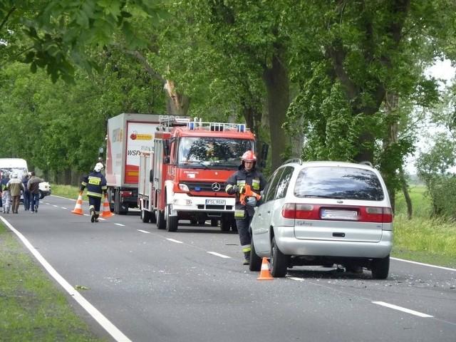 Do wypadku doszło w sobotę na drodze krajowej nr 22 między Kostrzynem, a Słońskiem.