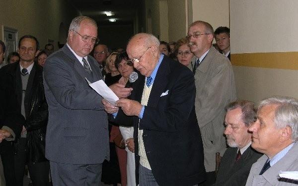 Jerzy Rogański wspomina swojego nauczyciela.