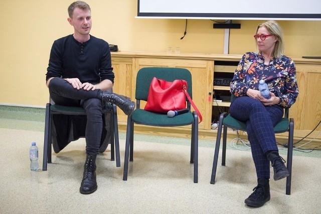 Radosław B.Maciąg i Małgorzata Potocka interesująco opowiadali o swoich najbliższych planach artystycznych.