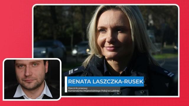 Sławomir Skomra rozmawia z Renatą Laszczką-Rusek, rzeczniczką Komendanta Wojewódzkiego Policji