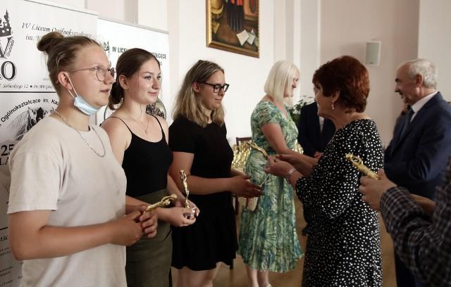 Spotkanie podsumowujące sukcesy uczniów-sportowców z Grudziądza odbyło się w auli IV Liceum Ogólnokształcącego
