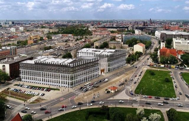 Biurowce City Forum przy ulicy Traugutta we Wrocławiu