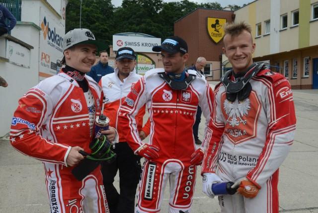 Liczymy w Vojens na Patryka Dudka i Bartosza Zmarzlika, Krystian Pieszczek (z prawej) jest zawodnikiem rezerwowym.