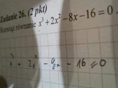 To zadanie wyciekło w czasie egzaminu maturalnego z matematyki.
