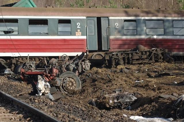 Katastrofa pod BialogardemZderzenie tira z pociągiem.