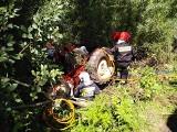 Podhale. Wypadek traktora w Czarnym Dunajcu. Ciągnik przygniótł kierowcę