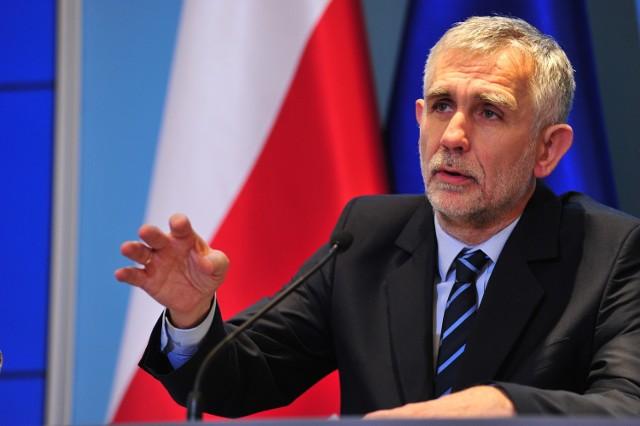 na zdjęciu Maciej Grabowski - minister środowiska