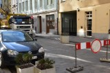 Ulica Świętego Antoniego zamknięta. Kłopoty z rurą