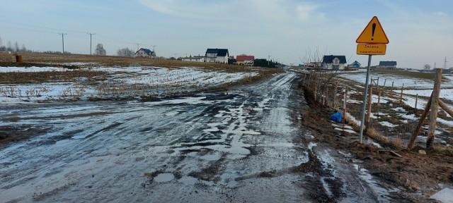 Tak ulica Polna wyglądała w lutym 2021 r.