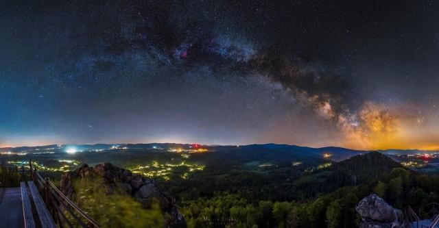 Astrofotografia - Panorama z Sokolika Wielkiego