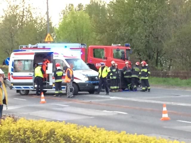 Wypadek na ul. Blachnickiego w Sosnowcu