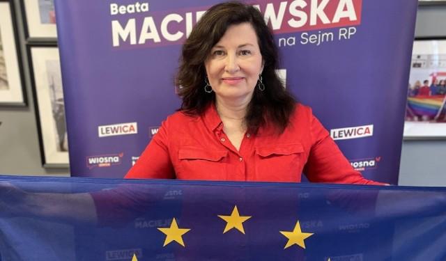 Beata Maciejewska: Mój gest dotyczący europejskiej tożsamości w obecnej sytuacji politycznej w Polsce ma rzeczywiście wymiar polityczny, choć nazwałabym się Europejką bez względu na to, kto rządzi w Polsce.