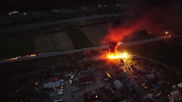 Pożar na osiedlu romskim