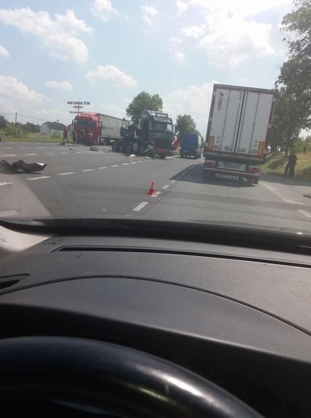 Wypadek w Koziegłowach, fot. INFORMACJE DROGOWE - KATOWICE I OKOLICE