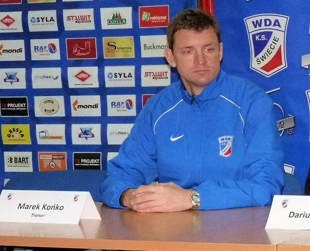 Marek Końko po raz drugi został trenerem Wdy Świecie. Poprzednio prowadził ją w sezonie 2012-13.