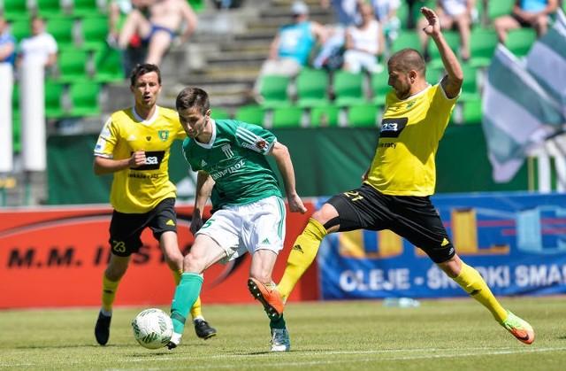 Damian Warchoł (zielona koszulka) został wypożyczony do końca tego sezonu.