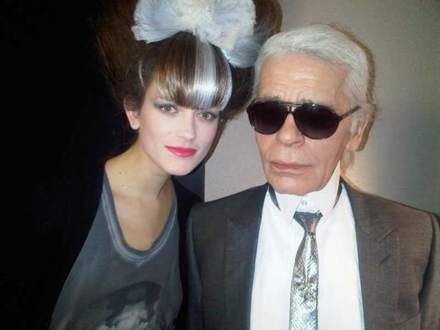 Marlena Szoka i Karl Lagerfeld, niemiecki dyktator mody na Fashion Show Chanel