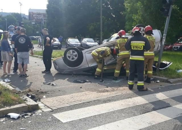 Wypadek na ul. Zaporoskiej we Wrocławiu 16.06.2021