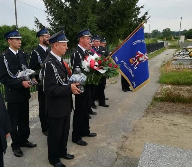 25 lipca w Solcu-Zdroju - obecni strażacy uczcili pamięć tych tragicznie zmarłych