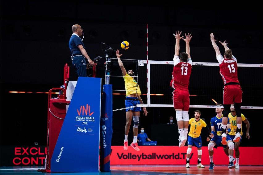 Brazylia wygrała z Polską 3:0 w dziewiątej kolejce Ligi...