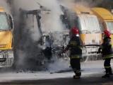Pożar samochodu Poczty Polskiej w Rzeszowie