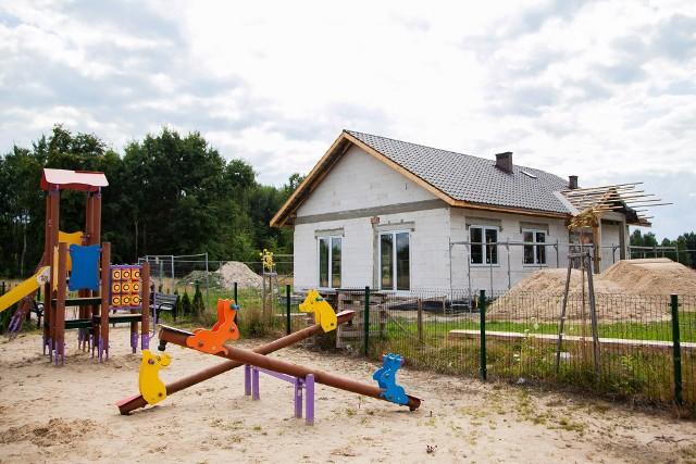 Tak wygląda obecnie stan budowy świetlicy w Janikowie.