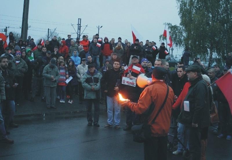 Pikieta przed honorowym konsulatem Ukrainy w Przemyślu....